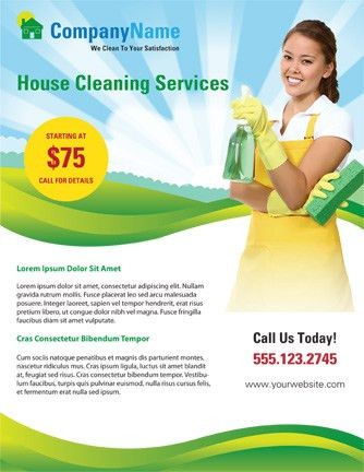 Use this home cleaning flyer template to advertise your cleaning ...