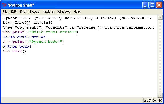 Open source python installed and test on Windows