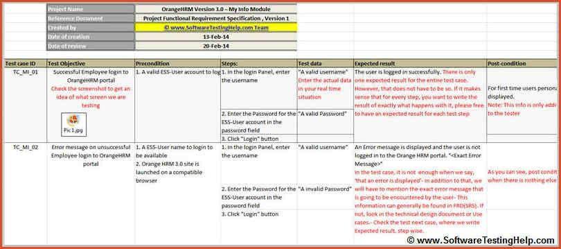 TEST CASE TEMPLATE.qa Training Test Cases Samples Xls.jpg ...