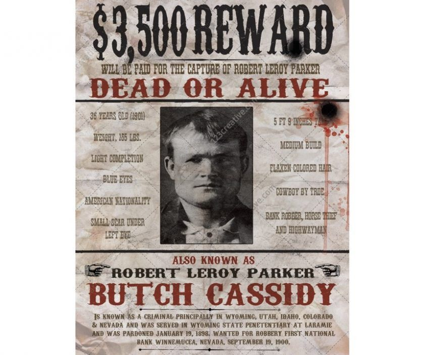 Real Old West Wanted Posters | Tattyfraney