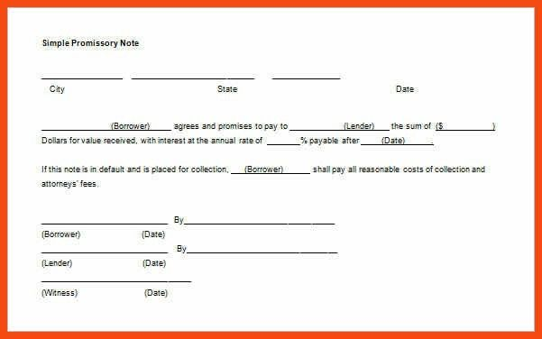 promissory note template | program format