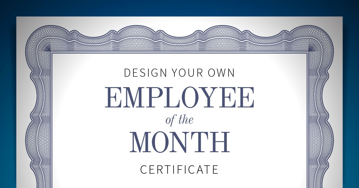 Employee of the Month Certificate | When I Work