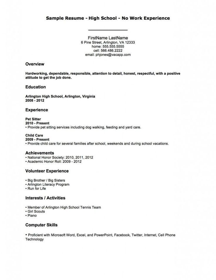 Best 20+ High school resume template ideas on Pinterest | My ...