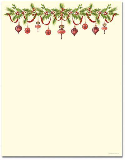 Grandma's Ornaments Letterhead | Holiday Papers | Pinterest ...