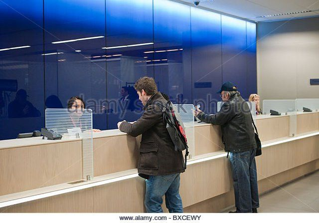 Teller Stations In Citibank New Stock Photos & Teller Stations In ...