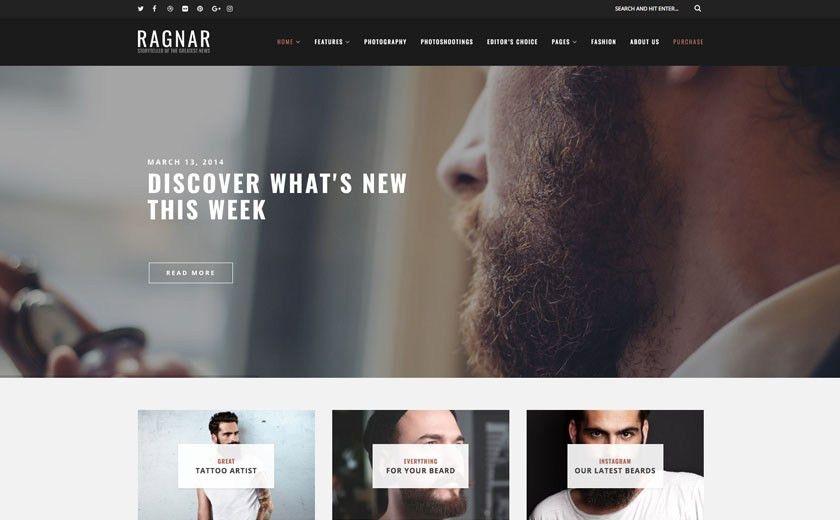 The Best WordPress Themes & Website Templates - Ragnar Blog Theme