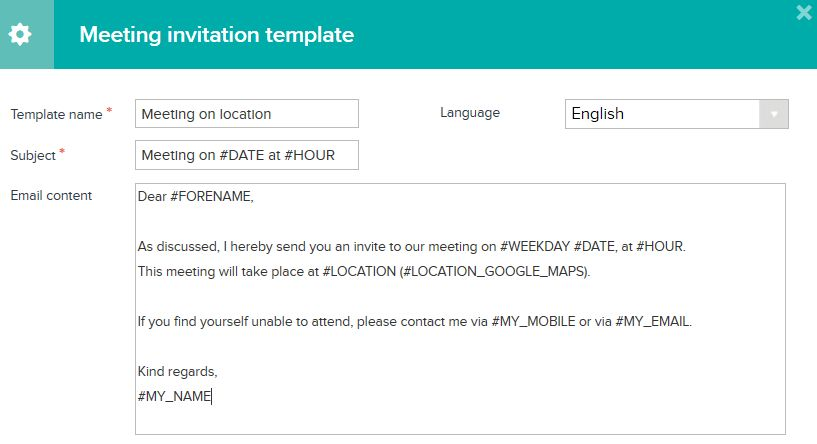 Meeting Invitation Template - Themesflip.Com