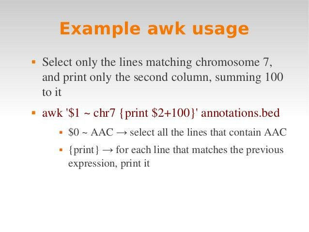 Linux intro 4 awk + makefile
