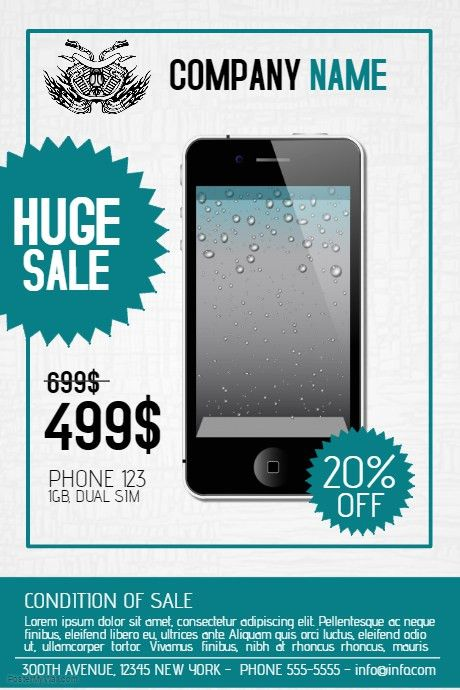 multipurpose phone product sale flyer template | PosterMyWall