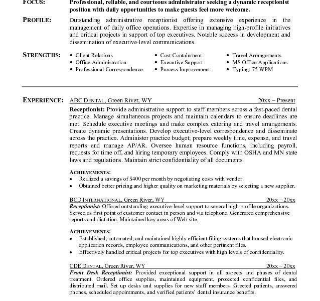 Clerical Experience, clerical resume sample berathencom, office of ...