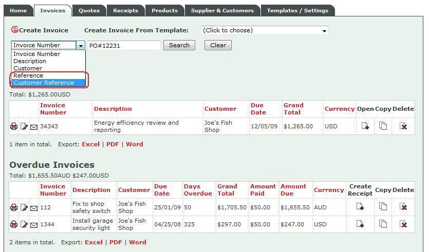 Invoice Place blog » Create invoices with supplier and customer ...