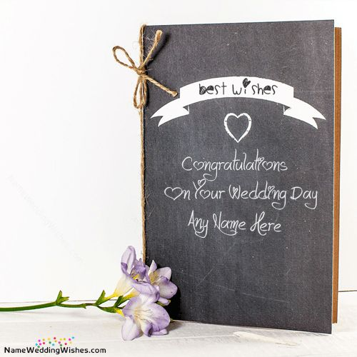 Wish Wedding Card Messages With Name