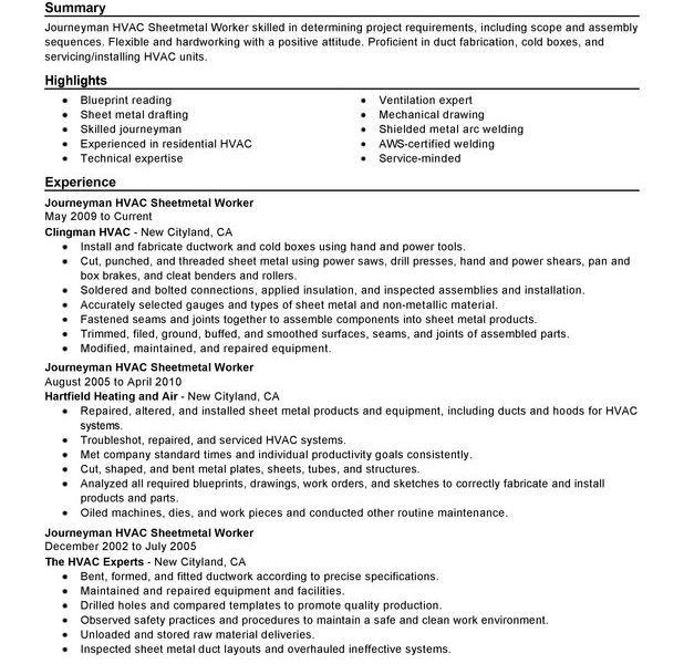 Majestic Hvac Resume Most - Resume CV Cover Letter