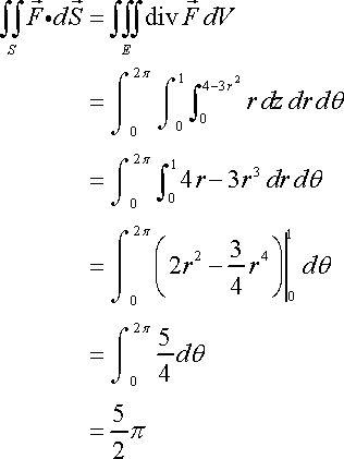 Calculus III - Divergence Theorem