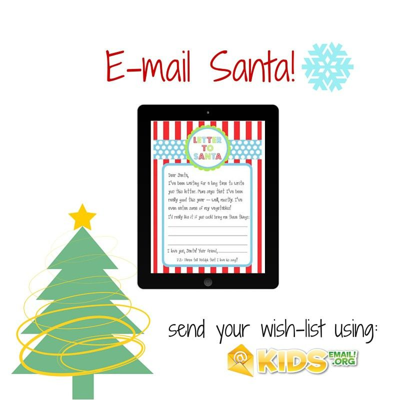 Use Kids Email to Email Santa – Kids Email Blog