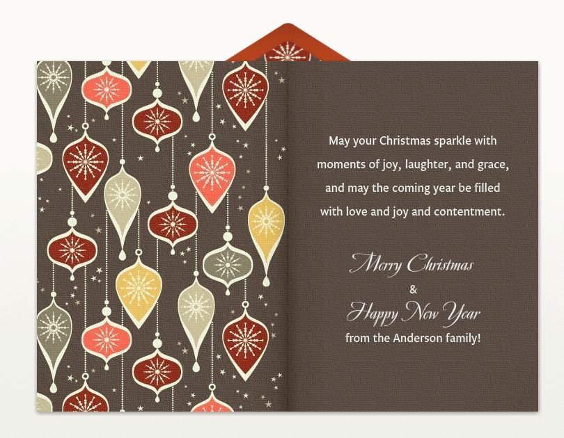 Christmas Card Greetings