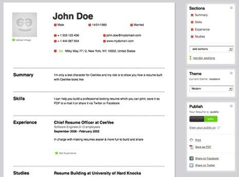 Creating Resume Online - Best Resume Example