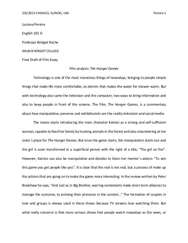 film analysis essay example