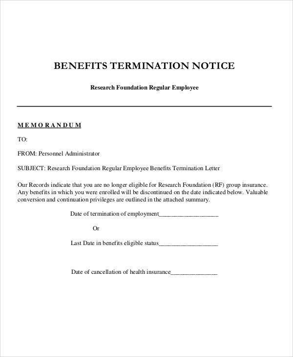 37+ Sample Termination Letters