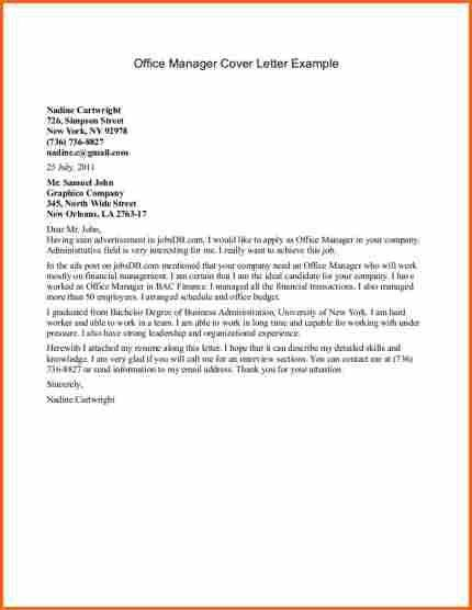 9+ office manager cover letter - Budget Template Letter