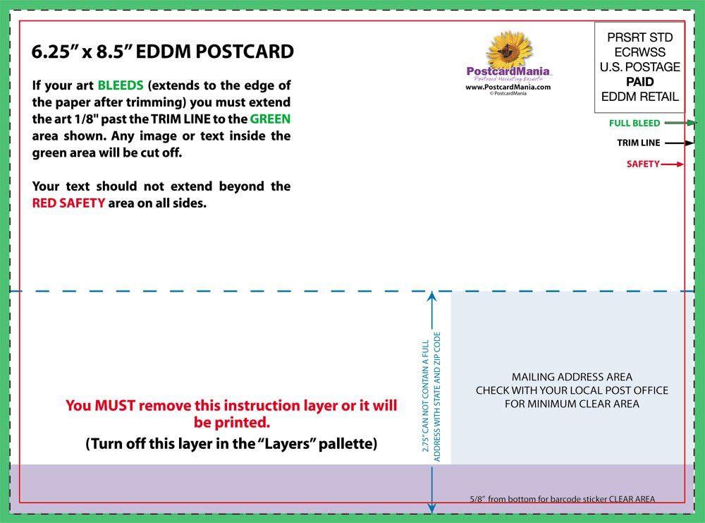 Download Postcard Design and Mailing Templates | PostcardMania