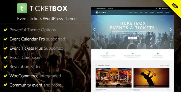 TicketBox – Event Tickets WordPress Theme by DawnThemes | ThemeForest