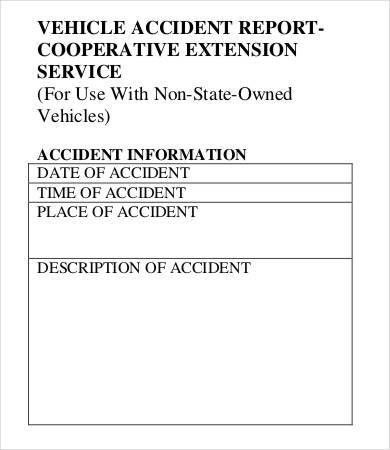 13+ Accident Report Forms - Free, Sample, Example Format Download ...