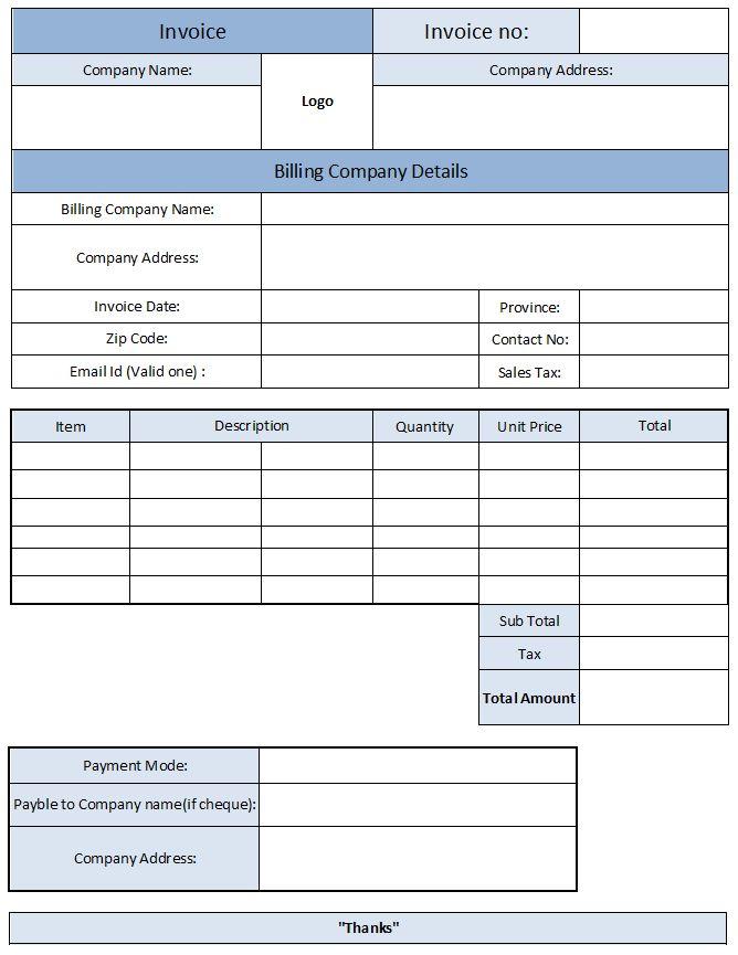 Electrician Invoice Template | Invoice Template