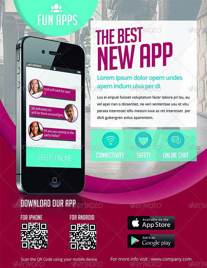 App Flyers / Magazine Ads by ingridk | GraphicRiver