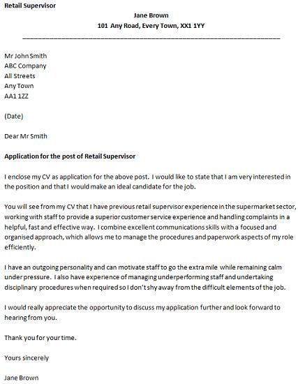 28+ [ Cover Letter Supervisor Position ] | Restaurant Supervisor ...
