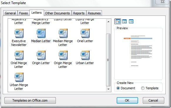 Word 2010 Mail Merge