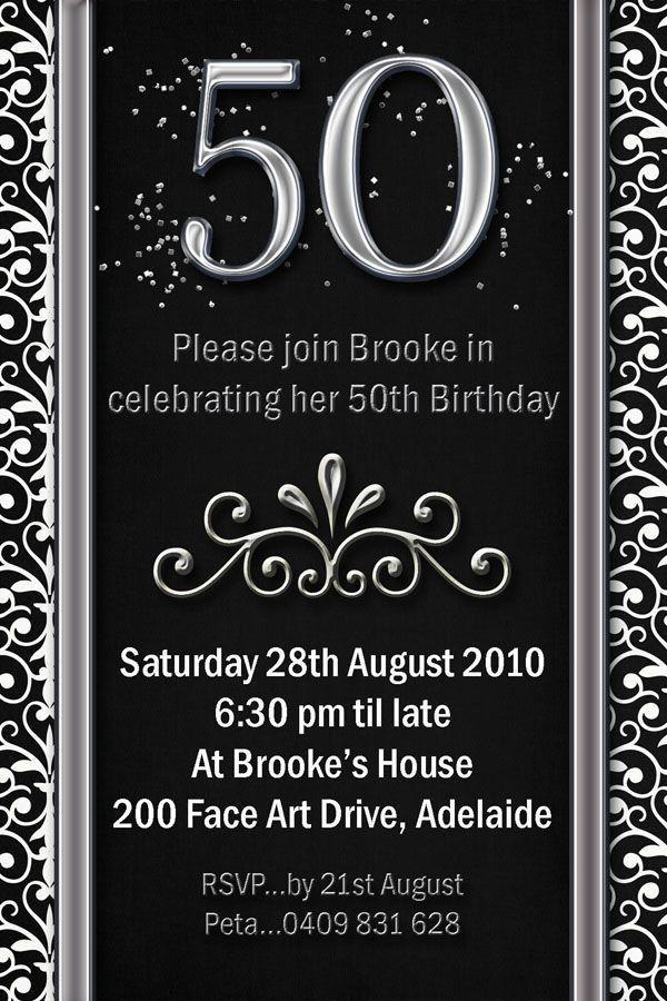 24 best 50Th Birthday Invitation Templates images on Pinterest ...