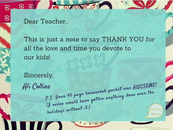 An Open Thank You Letter to TeachersSF Public School Mom