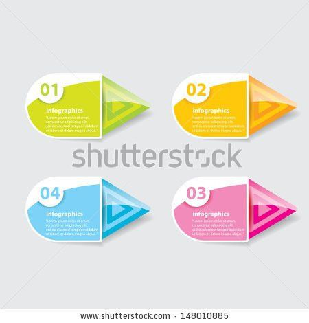 Color Progress Paper Banners Can Be Stock Vector 182355503 ...