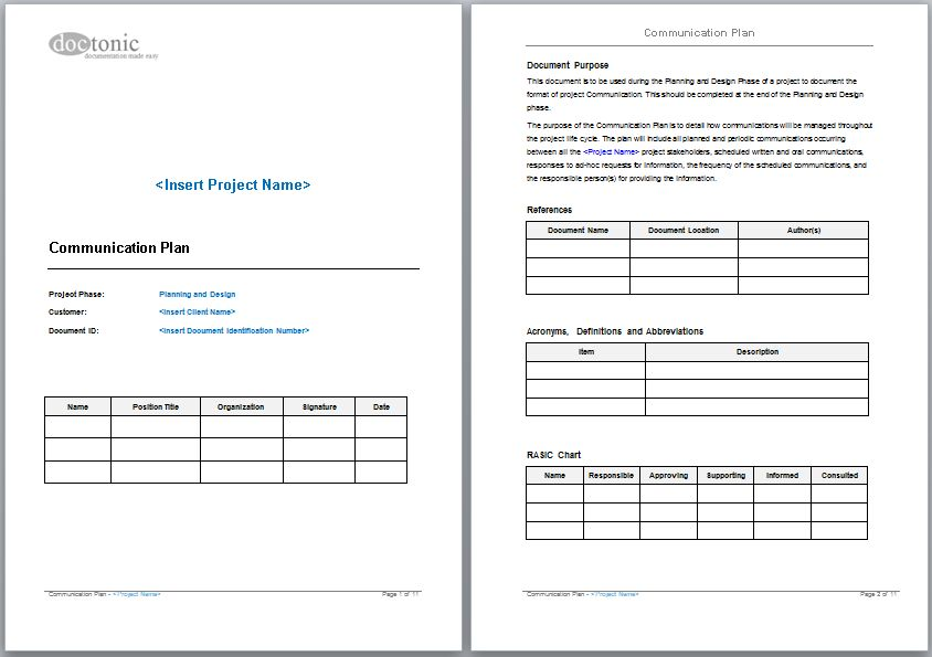 Communication Plan Template | cyberuse