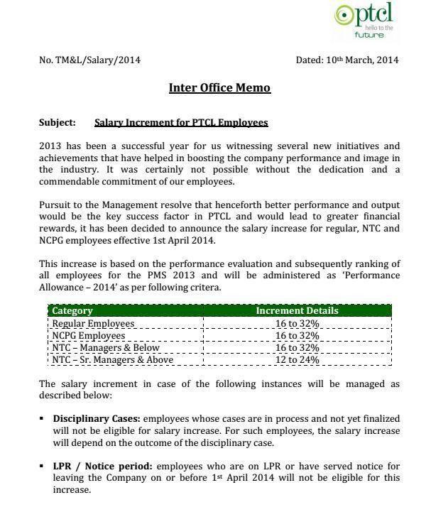 PTCL Announced Annual Salary Increase and Bonus | PAKWORKERS