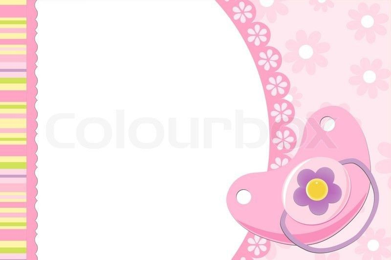 Blank template for greetings card or photo frame in pink colors ...