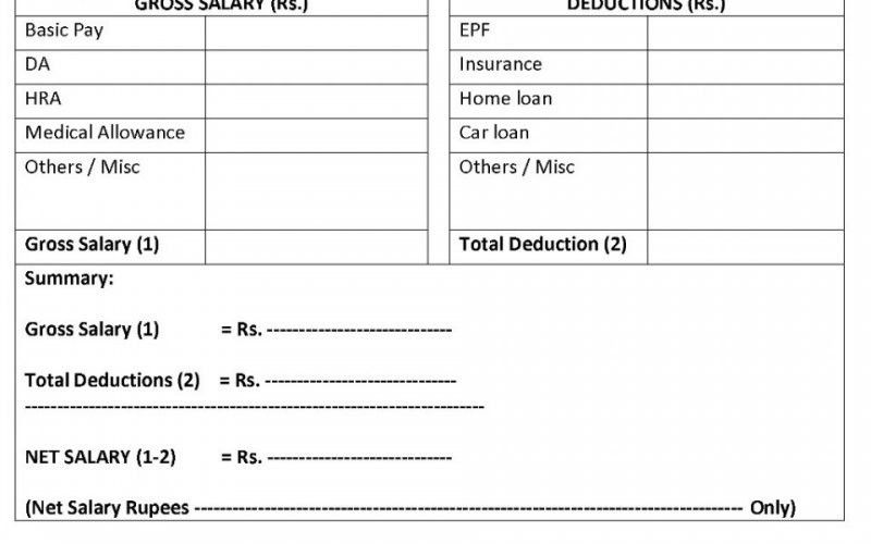 Download Salary Certificate Formats - Word, Excel and PDF   Mala.co.in