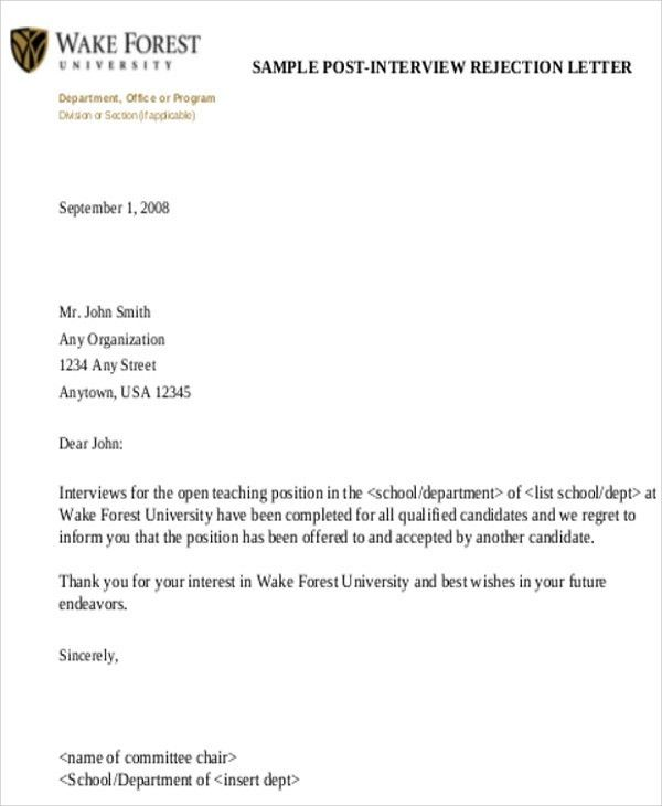 High Quality Sample Formal Interview Letter   9+ Examples In Word, PDF