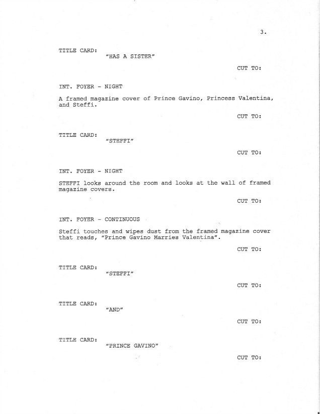 Page 3 of Royal Love Story From The Grave - Sample Screenplay ...