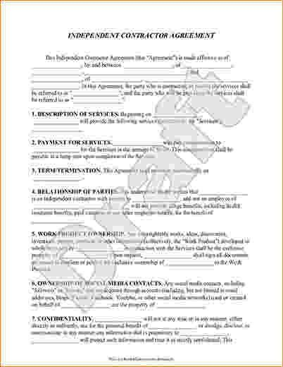 7+ Simple Independent Contractor Agreement | Timeline Template
