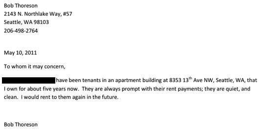 Housing Reference Letter. Housing Reference Letter Sample Sample .