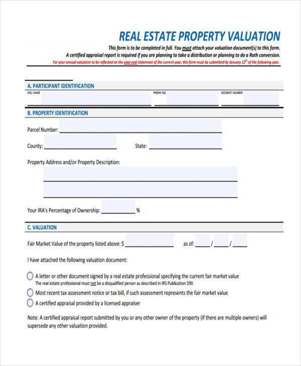 7+ Property Evaluation Form Samples - Free Sample, Example Format ...