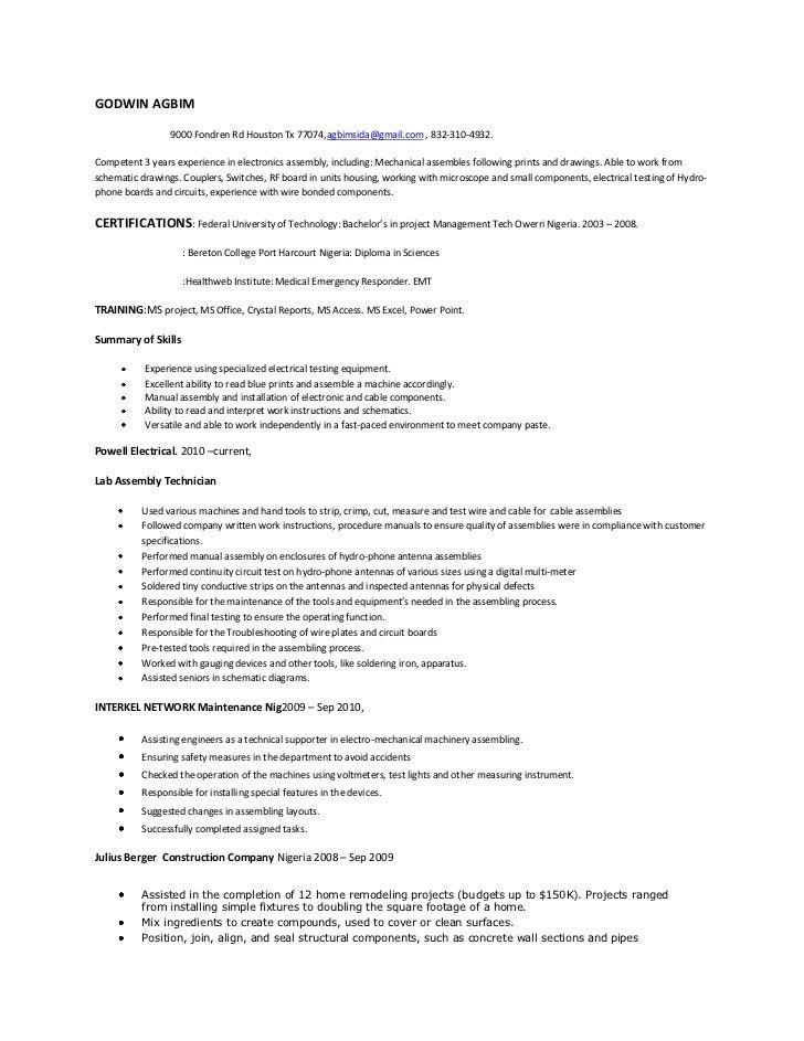 Construction Worker Job Description. Assembly Line Worker Job ...