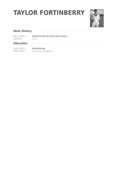 Advertising Account Executive Resume samples - VisualCV resume ...