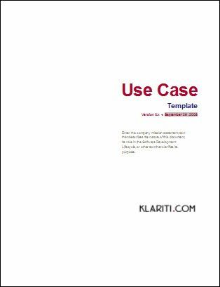 Use Case Template - MS Word | A Use Case diagram presents a … | Flickr