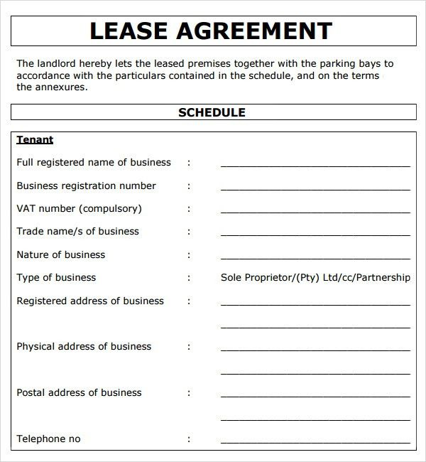 13 Commercial Lease Agreement Templates - Excel PDF Formats