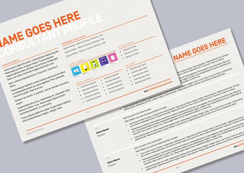 Recruitment agency consultant profile Word template - Cordestra