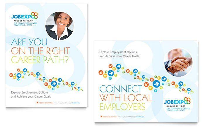 Job Expo & Career Fair Poster Template Design