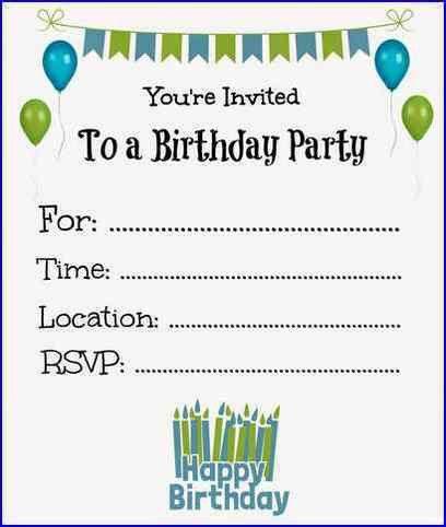 Free Birthday Invitations – gangcraft.net